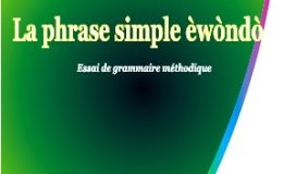 La phrase simple ewondo